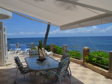 Dorado house rental - 1st floor Terrace with view of the Atlantic Ocean