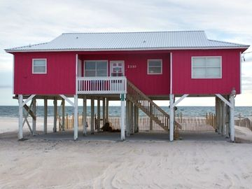 Fort Morgan house rental - Beach Dreams Front View. JUST STEPS TO THE WATER