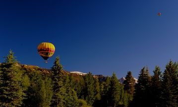 Hot Air Balloons beside the Tetons!