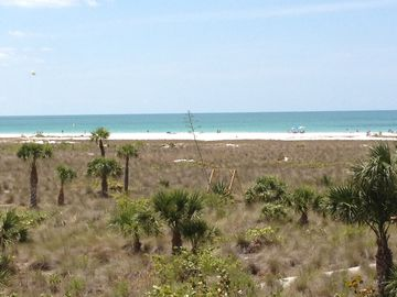 Beach view from Penthouse porch over looking the Gulf of Mexico.