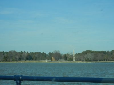 Williamsburg cottage rental - View of Jamestown Island right across the river from cottage