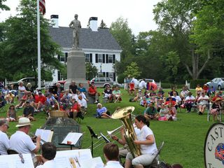 Castine cottage photo - Enjoy Town Band summer concerts on the Town Green