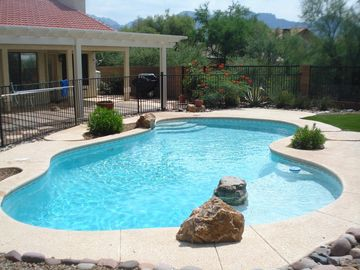 Oro Valley house rental - Fantastic mountain and private desert views from self-cleaning pool with lagoon.