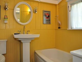 Downstairs Bath, off the kitchen - Oak Bluffs house vacation rental photo