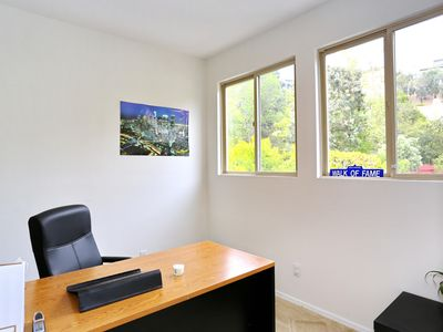 Private Office in the Master Bedroom w/ beautiful views of the hills!