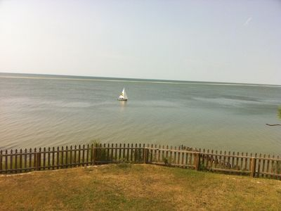 Cape Charles house rental - View from the upper level--boats, water, sandbar, wildlife.