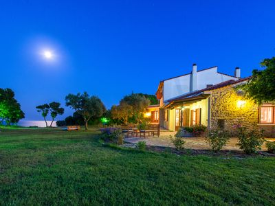 Secluded  private villa, sea front,  on a 10 Acre property with a forest