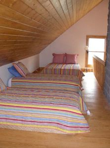 Loft Beds at Rock Creek Cabain 1 Queen and 3 Twin beds - Vacation Cabin Rental