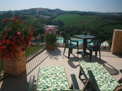Leopardi's large terrazza with beautiful views