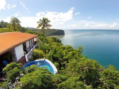 Emerald Hill Villa, very likely the best view in St. Lucia...