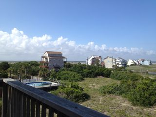 Trucks parked on the inlet - North Topsail Beach cottage vacation rental photo