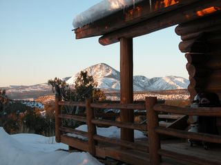 View from the cabin to the south of Sleeping Ute Mountain - Mesa Verde cabin vacation rental photo