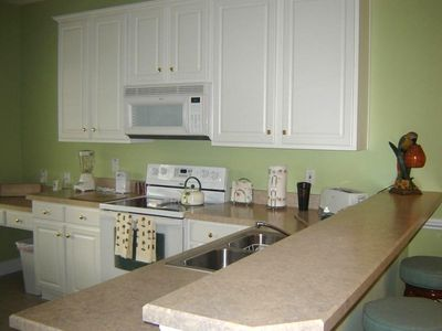 Spacious kitchen fully equipped for your stay.