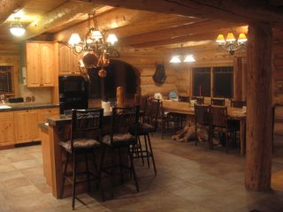 Granby lodge photo - View of the Kitchen/Dining area from the Entry