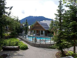 Whistler townhome photo - View Off Patio Overlooking Pool Area