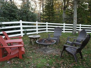Long Pond house photo - The fire-pit! Can you smell the S'mores :)?