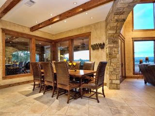 Spicewood estate photo - Dining with GREAT views of Lake Travis!