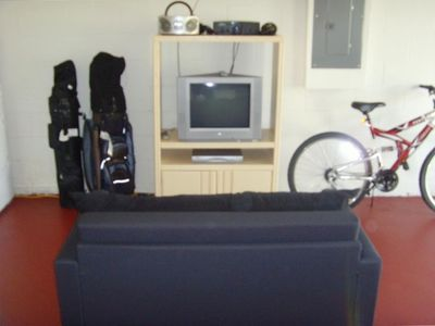 Games room, golf clubs & bikes for your enjoyment