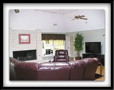 Beautiful Living Room wiith gas fireplace