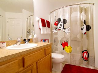 Emerald Island villa photo - Mickey mouse main bathroom- for kids and adults alike!