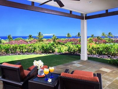 Great Room Opens to Lanai Patio & Lawn. Great Sunset & Ocean Views. Larg