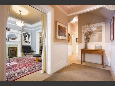 Elegant Entry Sets the Tone. Period Detail.  Original Art YourHomeInSanFrancisco