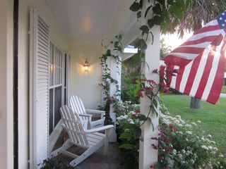 Vero Beach house photo - Cute front porch with gorgeous garden!