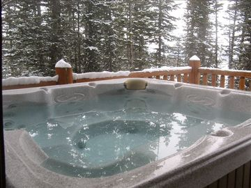 Enjoy Breathtaking views and true seclusion from the private outdoor hot tub.
