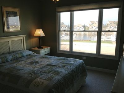 Upper level bedroom with great views