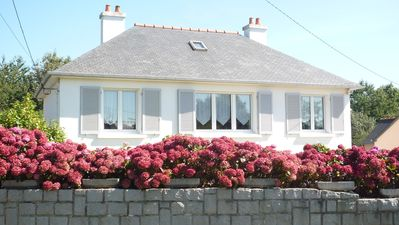 House with garden at the sea near Perros Guirec