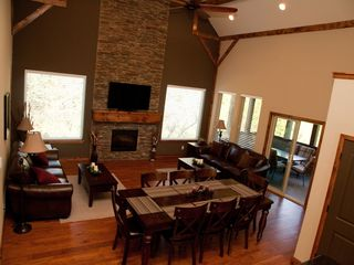 Branson house photo - Great Room - Main Level, large & open, two couches, 55in 3DTV, dining room t