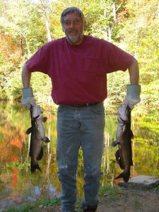 Blue Ridge cabin rental - Dan's Huge Cats Caught at 1 of 8 Stocked Lakes
