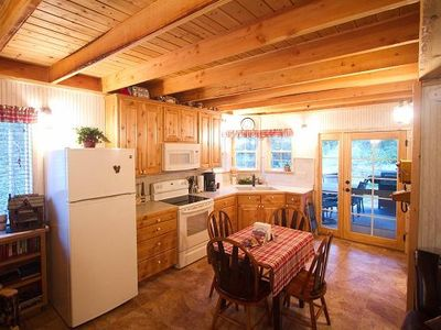 Country kitchen w/ everything you thought you ever needed and patio w/ gas BBQ