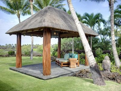 Kaupulehu house rental - Outdoor reflection/rest area