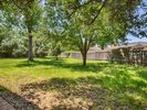 Large back yard fully fenced in. Great for pets.