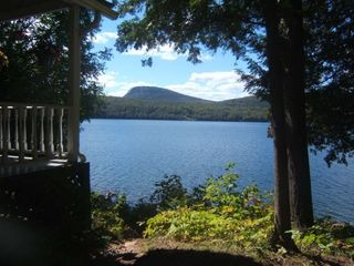 Lake Willoughby cottage photo - View from Rocking Chairs and ever 'Popular' Picnic Table