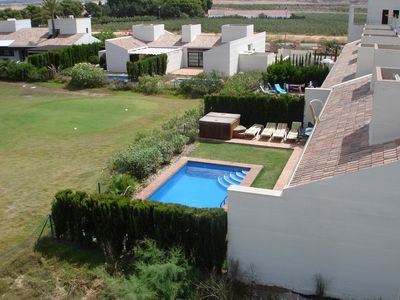 Middle Segura valley villa rental - Rear Garden Aerial shot