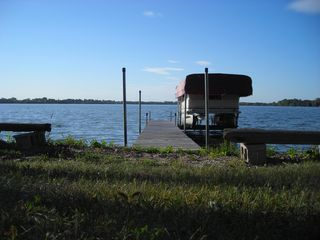 Howard Lake cabin photo - Dock to pontoon