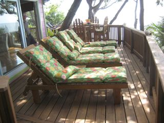 Roatan house photo - The perfect place to sit and enjoy a morning cup of coffee together!