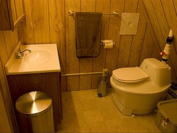 A sanitary composting toilet is an indoor convenie