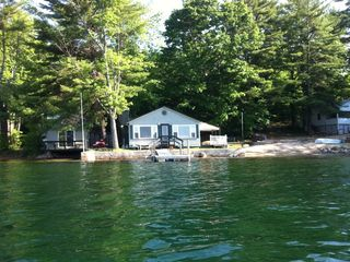 New Durham cottage photo - View of camp from the lake