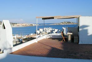 Ibiza Town house rental - Partial view of the terrasse