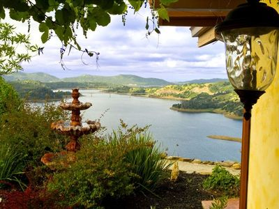 View from Casita overlooking lake Melones.