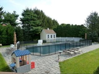Water Mill farmhouse photo - Heated 20x40 Saltwater Gunite Pool with Child Fence