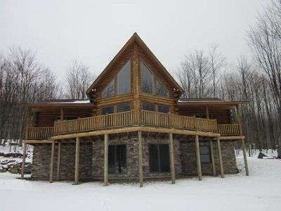 Andes cabin rental - Front view of Mountain Vista Cabin