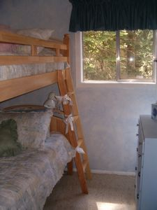 Homewood House Upstairs Bedroom with Twin Bunk Beds