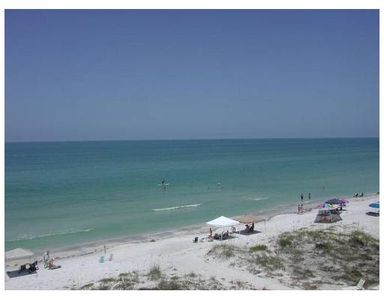 Ocean view of Gulf of Mexico from balcony - Indian shores beach