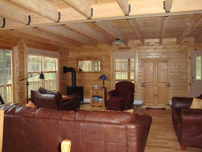 Thornton cabin rental - Family Room with gas stove