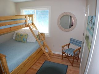 "St. Augustine Beach house photo - ""Surf"" Family Bedroom sleeps 4 in queen bed, twin bunk, trundle!"