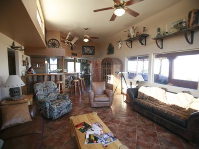 Family/Living Room with Western Decor at The Ranchero